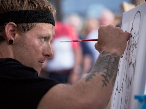 Photo Highlights – Competitive painting at Battle Of The Brushes