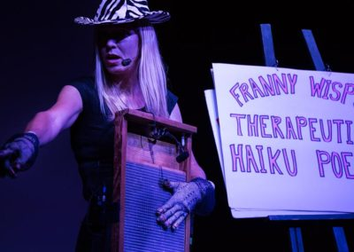 Franny Wisp and Her Washboard at Simcoe Street Theatre. Photo: Will Skol