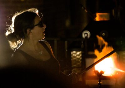 Glassblowing with Infinite Glassworks outside 77 Simcoe. Photo: Will Skol