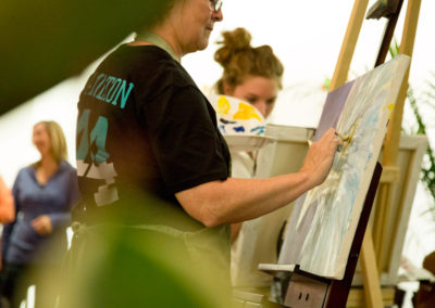 Live Painting with Shandelle Page McCurdie and Elaine McCurdie at Sol Kitchen. Photo: Will Skol