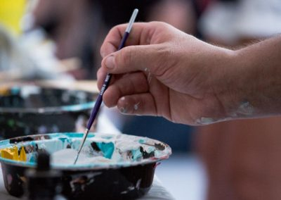 Live painting at Battle Of The Brushes. Photo: Will Skol