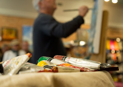 Live painting with David Conning at Clerkson's Home Store. Photo: Will Skol