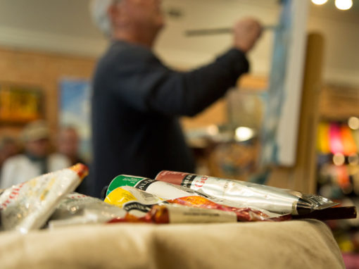 Photo Highlights – Live painting with David Conning at Clerkson's Home Store