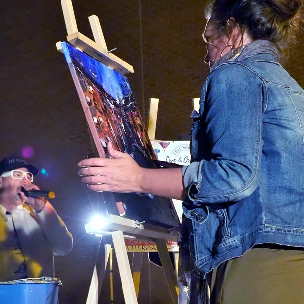 Live painting at the Collingwood Art Crawl.